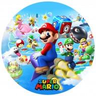 Disque en sucre Super Mario (19 cm)