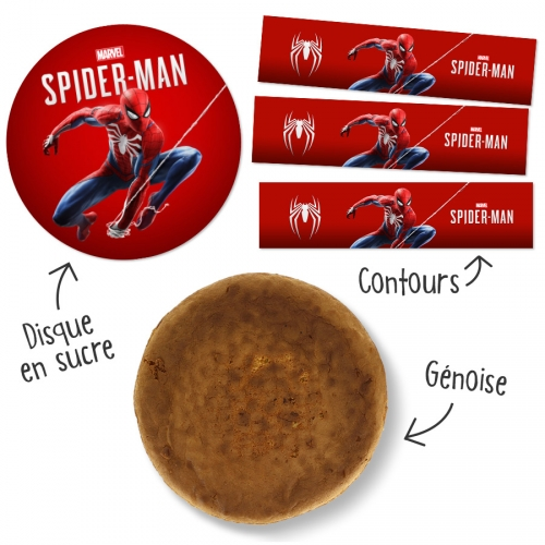 Kit Gâteau Spider-Man Marvel