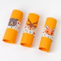 Contient : 1 x 6 Ronds de serviettes Animaux de la Forêt - Recyclable