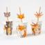 6 Pailles en papier Animaux de la Forêt - Recyclable