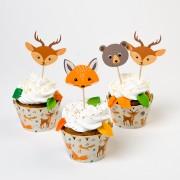 Kit Cupcakes Animaux de la Forêt - Recyclable
