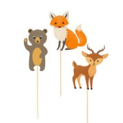 Cake Toppers Animaux de la Forêt - Recyclable