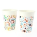 6 Gobelets Rainbow Dots - Compostable. n°1