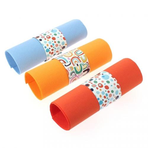 6 Ronds de serviettes Rainbow Dots - Recyclable