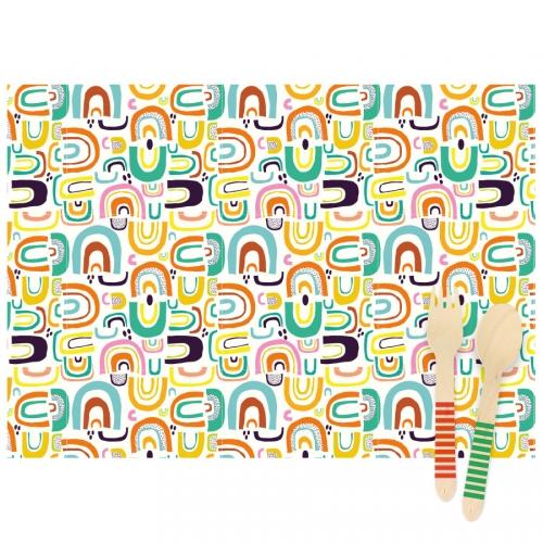 6 Sets de table Rainbow - Recyclable