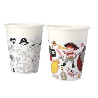 Contient : 1 x 6 Gobelets Pirate Color - Compostable