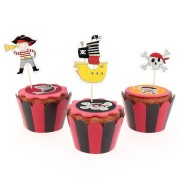 Kit Cupcakes Pirate Color - Recyclable