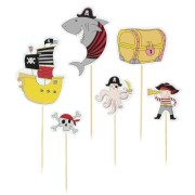 Cake Toppers Pirate Color - Recyclable