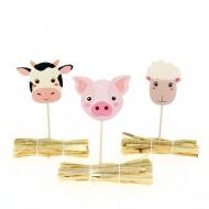 Kit Cupcakes Animaux de la Ferme - Recyclable