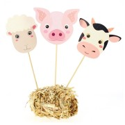 Cake Toppers Animaux de la Ferme - Recyclable
