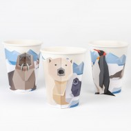 6 Gobelets Animaux Polaires - Compostable