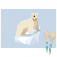 6 Sets de table Animaux Polaires - Recyclable