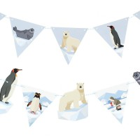 Contient : 1 x Guirlande Animaux Polaires - Recyclable
