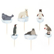 Kit Cupcakes Animaux Polaires - Recyclable