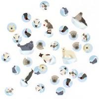 Contient : 1 x Confettis Animaux Polaires - Recyclable