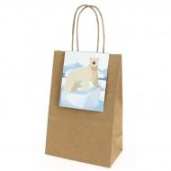 6 Sacs Cadeaux Animaux Polaires - Recyclable