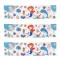 6 Ronds de serviettes Sirène Corail - Recyclable images:#3
