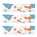 6 Ronds de serviettes Sirène Corail - Recyclable. n°5