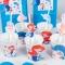 6 Pailles en papier Sirène Corail - Recyclable images:#1