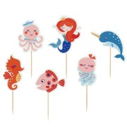 Kit Cupcakes Sirène Corail - Recyclable