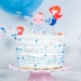 Cake Toppers Sirène Corail - Recyclable. n°2