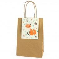 6 Sacs Cadeaux Animaux de la Forêt - Recyclable