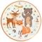 6 Assiettes Animaux de la Forêt - Recyclable images:#0