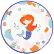 6 Assiettes Sirène Corail - Recyclable
