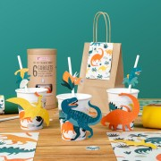 6 Gobelets Dinosaures - Compostable