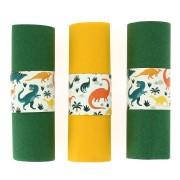 6 Ronds de serviettes Dinosaures - Recyclable
