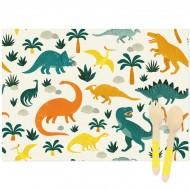 6 Sets de table Dinosaures - Recyclable