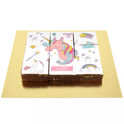 Brownies Puzzle Licorne Rainbow - Personnalisable