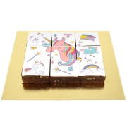 Brownies Puzzle Licorne Rainbow