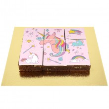 Brownies Puzzle Licorne Rainbow Rose