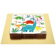 Brownies Puzzle Dino Colors