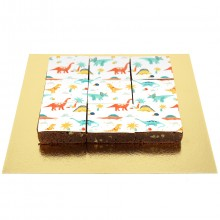 Brownies Puzzle Dino Flowers