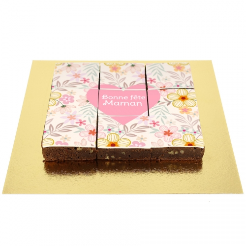 Brownies Fleurs et Coeur - Personnalisable