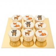 9 Cupcakes Animaux de la Forêt