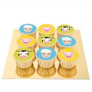 9 Cupcakes Animaux de la Ferme