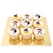 9 Cupcakes Pirate Color - Chocolat