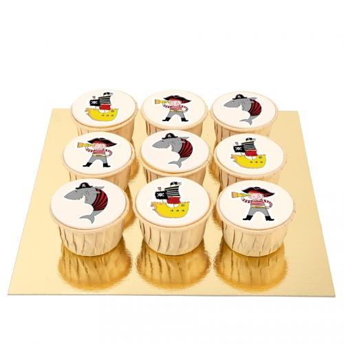 9 Cupcakes Pirate Color