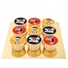9 Cupcakes Pirate Color Pop