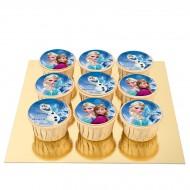 9 Cupcakes Reine des Neiges