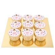 9 Cupcakes Ballerine - Pépites de Chocolat