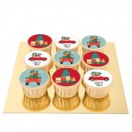 9 Cupcakes Noël Vintage