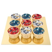 9 Cupcakes Noël Scandinave - Pépites de Chocolat