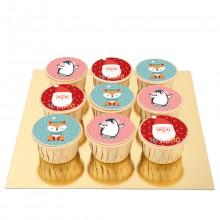 9 Cupcakes Ho Ho Ho