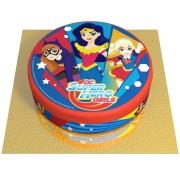 Gâteau Super Hero Girls - Ø 20 cm Chocolat