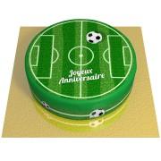 Gâteau Terrain de Football - Ø 20 cm Chocolat