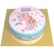 Gâteau Licorne Rainbow - Ø 20 cm Chocolat